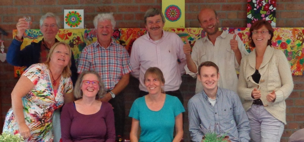 team Treffen 2016 vlnr Jan, Catharina, Sandra, David, Inge, Peter, Dennis, Paul, Mirjam